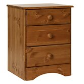 Scandinavian 3 Drawer Bedside Table