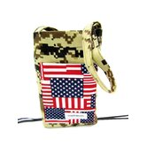 Camouflage and US Flag Crutch Bag