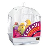 Round Top Parakeet Bird Cage Starter Kit