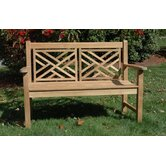 Teak Chippendale Garden Bench