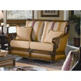 Pacifica Wicker Loveseat with Cushions