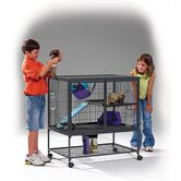 Ferret Nation Single Unit Cage in Gray Hammertone Finish