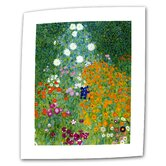 "Gustav Klimt ""Farm Garden"" Canvas Wall Art"