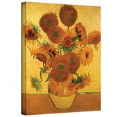Vincent Van Gogh ''Vase with Fifteen Sunflowers'' Canvas Art