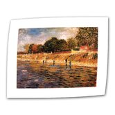 Vincent van Gogh &quot;Banks of the Seine&quot; Canvas Wall Art