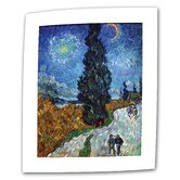 Vincent van Gogh &quot;Country Road in Provence by Night&quot; Canvas Wall Art