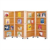 "Mobile Library 48"" H Bookcase - 4 Sections"