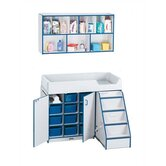 "Rainbow Accents Wall Organizer/Changer Combo with Stairs - Rectangular (48.5"" x 23.5"")"