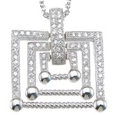 .925 Sterling Silver Brilliant Cut Cubic Zirconium Pendant