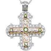 .925 Sterling Silver Brilliant Cut Cubic Zirconium Cross Pendant