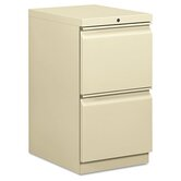 Efficiencies Mobile Pedestal File with Two File Drawers, 19-7/8D