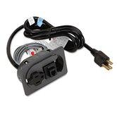 One-Outlet Electrical Unit/RJ11 Port, 6ft Cord, 8-1/2 x 2-7/8 x 1-7/8, Charcoal