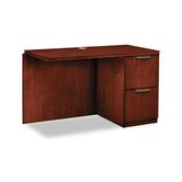 Arrive Single Pedestal 29.5&quot; H x 48&quot; W Right Desk Return