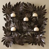 Leaf Over Leaf Over Leaf Wall Sconce
