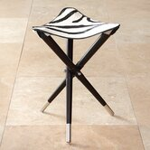 Elegant Cowhide Camp Stool
