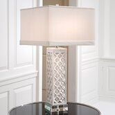 Square Arabesque Marble 1 Light Lamp