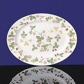 "Wild Strawberry 13.75"" Oval Platter"