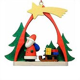 Santa and Sled Arch Ornament