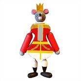 Wooden Mouse King Jumping Jack Toy