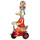 Tin Duck on Scooter Toy