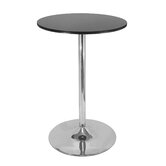 "28"" Round Pub Table with Chrome Leg"
