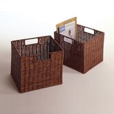 Set of 2 Espresso Small Storage Baskets