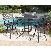 Biscayne 3 Piece Bar Height Dining Set