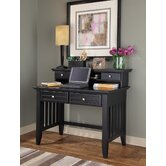 "Arts and Crafts 42"" W Writing Desk and Hutch"