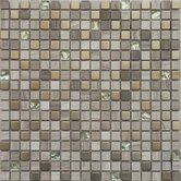 "Fusion Series 12"" x 12"" Mixed Metal Glass Marble Mosaic"