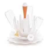 Splash Bottle Drying Rack in White