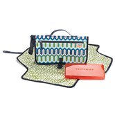 Jonathan Adler Pronto Changing Station in Chevron Blue