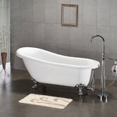 61&quot; x 31&quot; Claw Foot Slipper Bath Tub