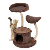 "35"" 2 Level Lounge Activity Center with Retreat Hide-Away Cat Tree"