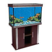 Nautilus III Aquarium with Silver Trim and Stand