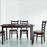 Baxton Studio Keitaro 5 Piece Dining Set