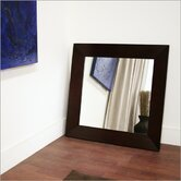 Baxton Studio Daffodil Square Mirror in Dark Brown