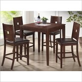 Baxton Studio London 5 Piece Dining Set