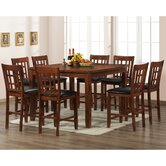 Baxton Studio 7 Piece Counter Height Dining Set