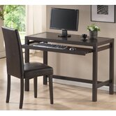 Baxton Studio Mesa Computer Desk and Parson Chair Set