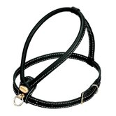 Fashion Leather Dog Harness in Black