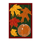 Spinning Leaves Applique Garden Flag