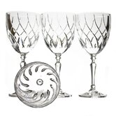 Fuego Vino Red Wine Glass With Crystal Flame Motif (Set of 4)
