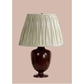 Madeleine Table Lamp with Classic Pinched Pleat Shade in Brown