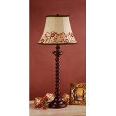 Somerset Table Lamp with Amelia Shade in Brown