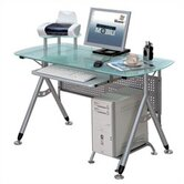 Glass Surface Computer Desk