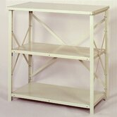 8000 Series Open Counter High Shelving - 3 Shelves: 39&quot; H x 36&quot; W x 24&quot; D