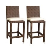 Martinique Wicker Barstool (Set of 2)