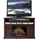 "Fire Creek 56"" Corner TV Stand with Electric Fireplace"