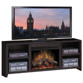 Urban Loft 76&quot; TV Stand with Electric Fireplace