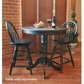 "24"" Swivel Windsor Barstool in Antique Black"